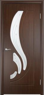"""Межкомнатная дверь ПВХ """"Лотос"""", по, венге"""