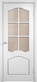 """Дверь белая ПВХ """"Лилия"""", по"""