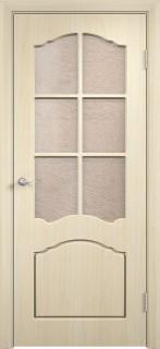 """Межкомнатная дверь ПВХ """"Лилия"""", по, беленый дуб"""