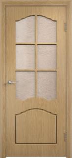 """Межкомнатная дверь ПВХ """"Лилия"""", по, дуб"""