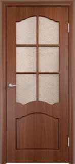 """Межкомнатная дверь ПВХ """"Лилия"""", по, итальянский орех"""