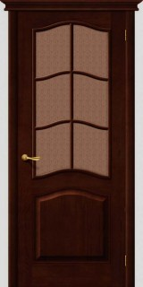 Межкомнатная дверь М 7, по, темный лак