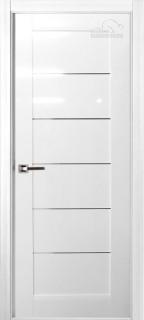 Межкомнатная дверь Мирелла, по, белый глянец