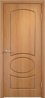 """Межкомнатная дверь ПВХ """"Неаполь"""", пг, миланский орех"""