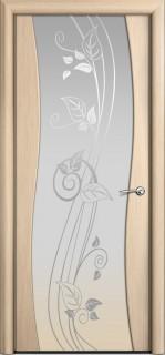 """Межкомнатная дверь """"Омега"""", по, беленный дуб"""