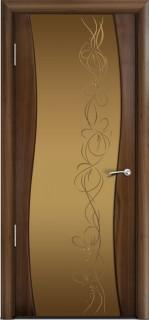 Межкомнатная дверь Омега, по, американский орех