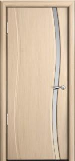 """Межкомнатная дверь """"Омега"""", поу, беленный дуб"""