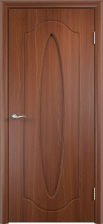 """Межкомнатная дверь ПВХ  """"Орбита"""", пг, итальянский орех"""