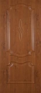 """Межкомнатная дверь ПВХ """"Пальмира"""", пг, светлый орех"""