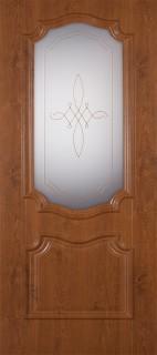 """Межкомнатная дверь ПВХ """"Пальмира"""", по, светлый орех"""