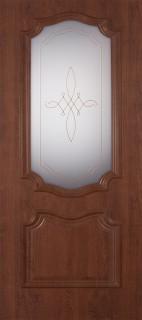 """Межкомнатная дверь ПВХ """"Пальмира"""", по, темный орех"""