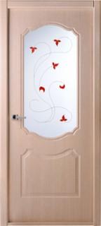 """Межкомнатная дверь """"Перфекта"""", по, рис.14, клен серебристый"""