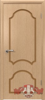 "Межкомнатная дверь ""Кристалл"", пг, светлый дуб"