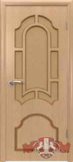 """Межкомнатная дверь """"Кристалл"""", по, светлый дуб"""