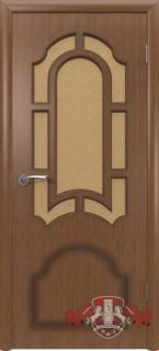 """Межкомнатная дверь """"Кристалл"""", по, орех"""