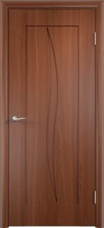 """Межкомнатная дверь ПВХ """"Стефани"""", пг, итальянский орех"""