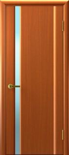 """Межкомнатная дверь """"Техно 1"""", по, темный анегри"""