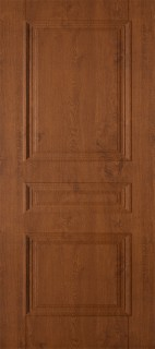 """Межкомнатная дверь ПВХ """"Трио"""", пг, светлый орех"""