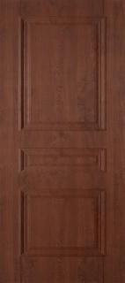 """Межкомнатная дверь ПВХ """"Трио"""", пг, темный орех"""