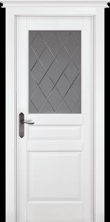 "Межкомнатная дверь ""Валенсия"" (PIEMONTE), по, Эмаль Белая (RAL 9010)"