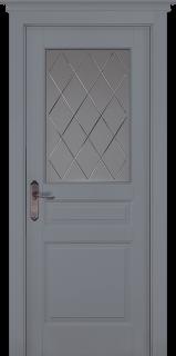"""Межкомнатная дверь """"Валенсия"""" (PIEMONTE), по, Эмаль Грей"""