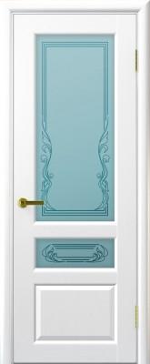"""Межкомнатная дверь """"Валенсия"""", по, ясень жемчуг"""