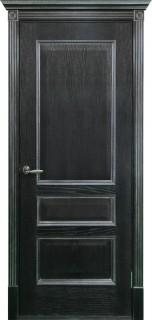 """Межкомнатная дверь """"Вена"""", пг, черная патина с серебром"""