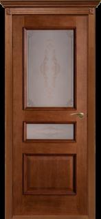 """Межкомнатная дверь """"Вена"""", по, орех-коньяк"""