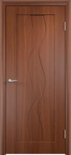 """Межкомнатная дверь ПВХ """"Вираж"""", пг, итальянский орех"""