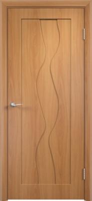 """Межкомнатная дверь ПВХ """"Вираж"""", пг, миланский орех"""