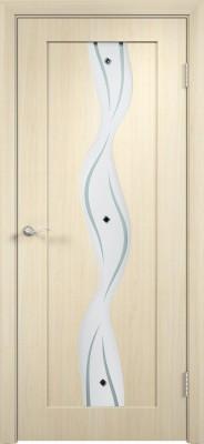 """Межкомнатная дверь ПВХ """"Вираж"""", по, беленный дуб"""