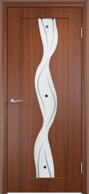 """Межкомнатная дверь ПВХ """"Вираж"""", по, итальянский орех"""